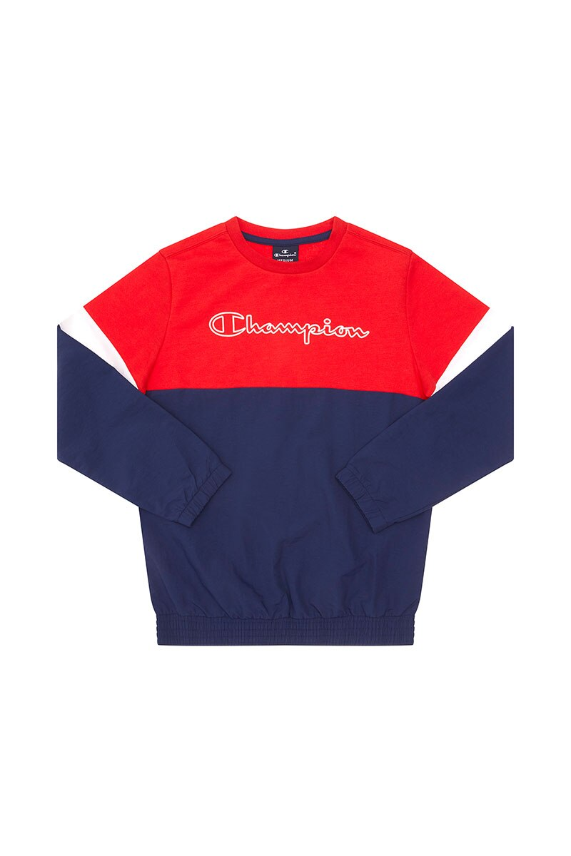 Image of Champion Boys Crew - Red Splice Stripe / 4