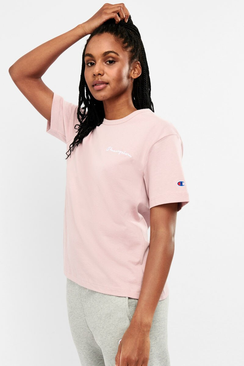 Image of Champion Boyfriend Tee With Graphic - Blush Ceramic / XL